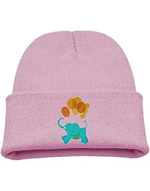 Elephant Birds Youth Winter Cap Cute Knit Beanie Skull Hat