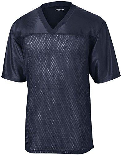 Cool Mesh Jersey - Joe's USA tm Mens Replica Athletic Football Jersey-Navy-M