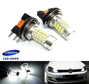 Luffy H15 64176 N10733301 - Bombillas LED para iluminación diurna, para faros delanteros, color blanco: Amazon.es: Coche y moto