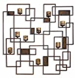 Extra Large Contemporary Geometric Wall Candle Sconce