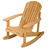 Outdoor Garden Rocking Rest Adirondack Wood Chair,Furniture Lawn Patio Deck Seat