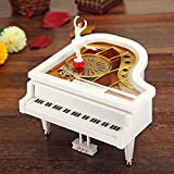 Lovely Piano Shaped Clockwork Music Boxes Musical Boxes with Dancing Ballet Girl HLI-121758