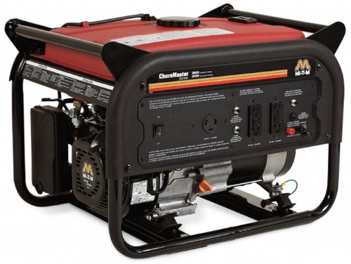 Mi-T-M GEN-3600-0MM0 Choremaster Generator with 212cc Mi-T-M OHV Engine, 3600W, Red/Black