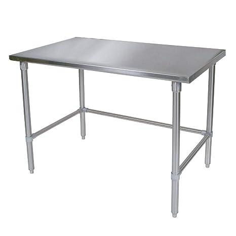 Amazon.com: KPS - Mesa de trabajo comercial de acero ...