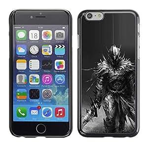 rígido protector delgado Shell Prima Delgada Casa Carcasa Funda Case Bandera Cover Armor para Apple Iphone 6 /Longsword Grey Character Pc/ STRONG