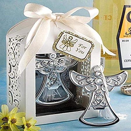 Creativos recuerdos abridor de botellas, sacacorchos de boda favor de la boda, regalos del partido, recuerdos de cumpleaños de abridores / aeroplano Amor, tapón de vino o sacacorchos ( Color : Angel )