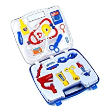 Youtop Educational Doctor Medical Kit Pretend Play Blue Set for Toddlers Boys