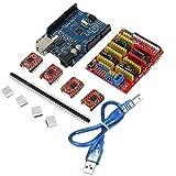3D Printer Arduino Board Cnc A4988 Shield Expansion V3 Driver Engraver New V4 Set Usb Cable Drivers