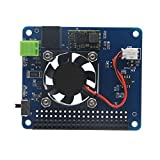 WINOGNEER Pi Power HAT Board with Programmable Smart Temperature Control Fan | 6V~14V input | 4A outmax|For Raspberry Pi 3 model B/2B/B+