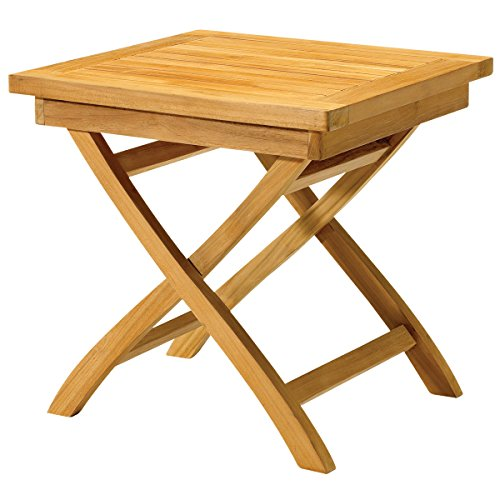 Classic Outdoor Weather Resistant Kilne-dried Teak Folding Side Table Furniture