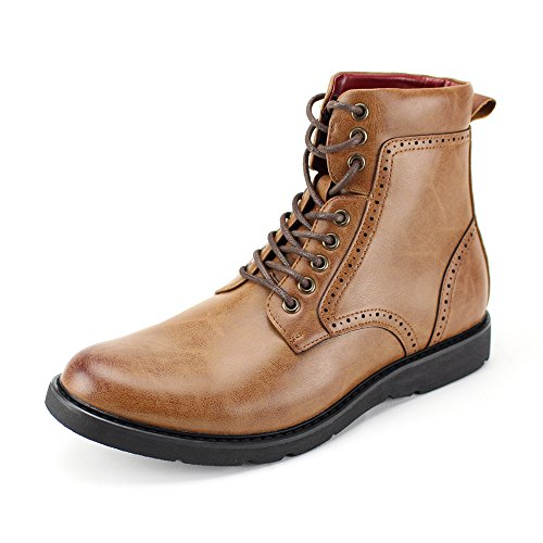 Casual Comfortable 6718 Fashion 3 4 Lightweight and Boots 718 Boots Style Tan 7XYFcS