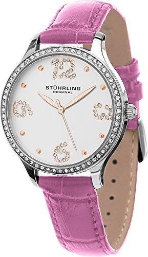 Stuhrling Original Women's 560.03 Symphony Analog Display Quartz Pink Watch