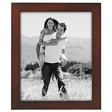 Malden International Designs Linear Classic Wood Picture Frame, Holds 8x10 Picture, Walnut