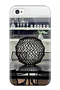 [cjwFzrb18098AnxUH]premium Phone Case For Iphone 4/4s/ Contemporary White Wet Bar And Dining Area Tpu Case Cover