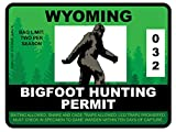 Bigfoot Hunting Permit - WYOMING (Bumper Sticker)