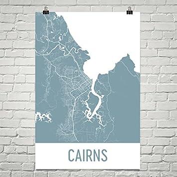 Australia Map Cairns.Amazon Com Cairns Map Cairns Art Cairns Print Cairns