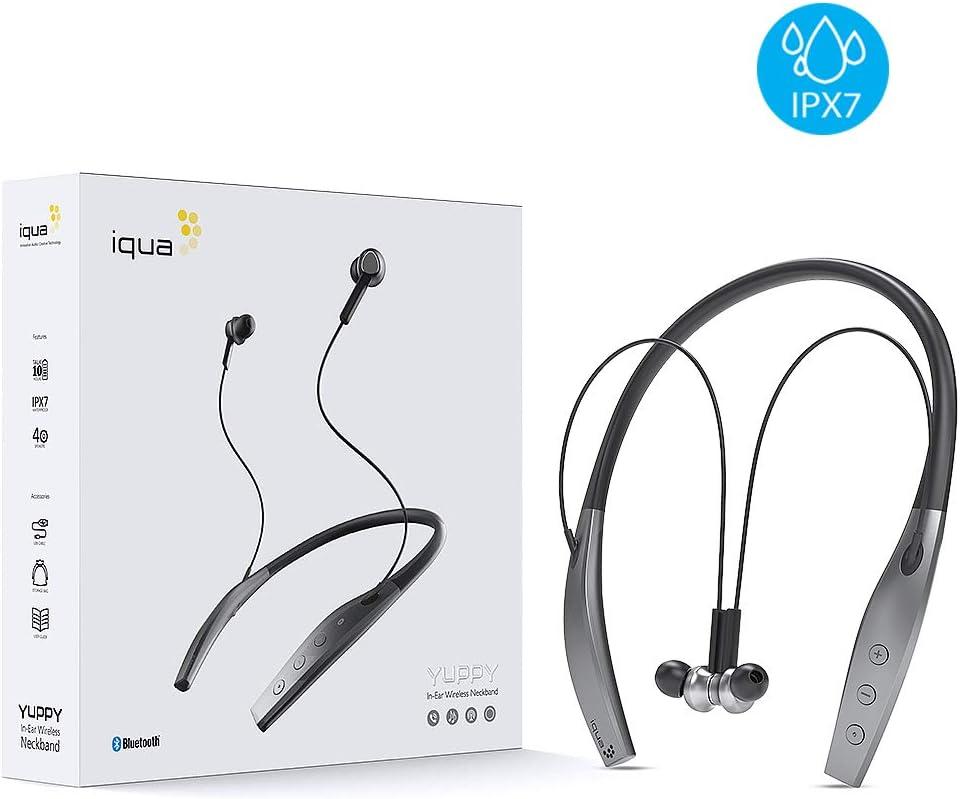 Iqua IPX7 Neckband Headphones Running