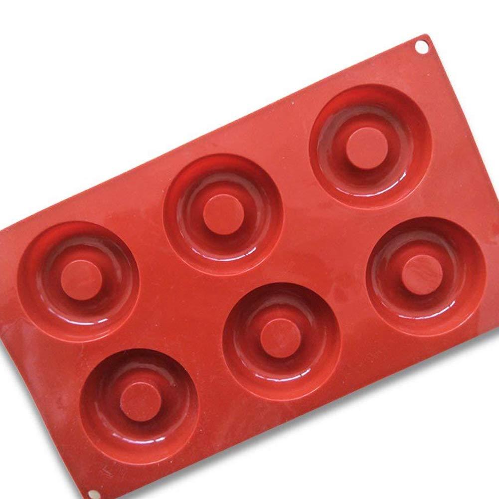 3D Silicon Donuts Stampi 6 cavit/à ciambella Stampo attrezzi del fondente della decorazione