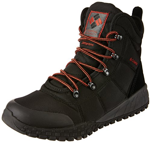 Columbia Men's Fairbanks Omni-Heat Hiking Shoe, Black, Rusty, 10 D US