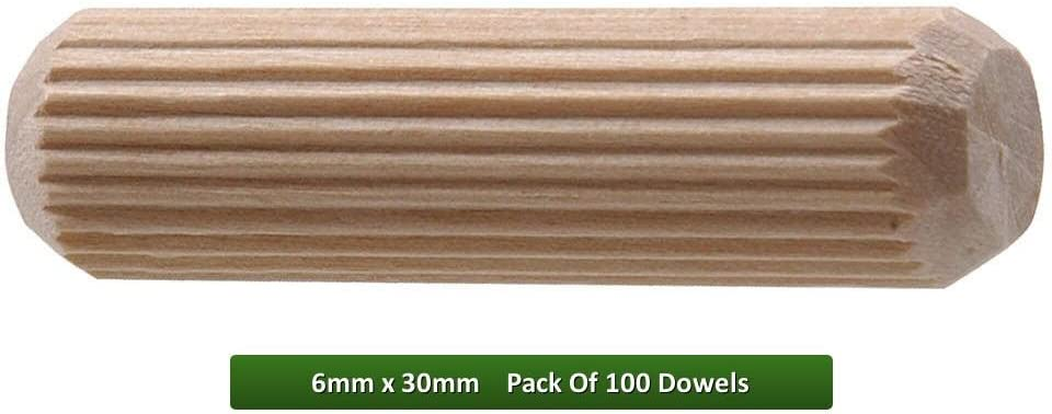 woodwork New Wooden Dowel 6 x 30mm joint chamfered DIY wood joint carpenters