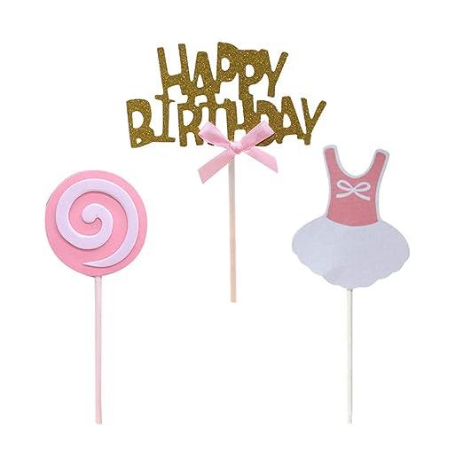 UPKOCH - Decoración para Tartas de cumpleaños, 15 Unidades ...