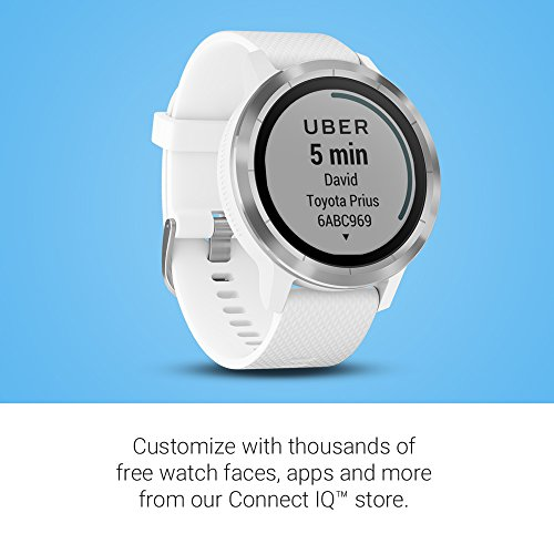 Garmin 010-01769-21 Vivoactive 3, GPS Smartwatch with Contactless Payments and Built-in Sports Apps, White/Silver 4