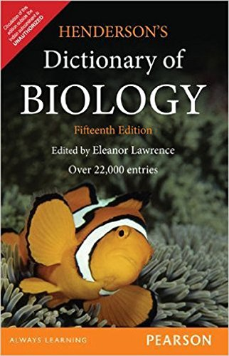 Read Online 15 ed - Henderson's Dictionary of Biology pdf