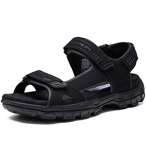 Skechers Louden Athletic GARVER Sandals Men's Black rqtEw8rx