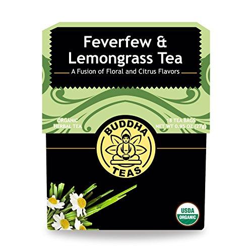 Organic Feverfew Lemongrass Tea Caffeine Free