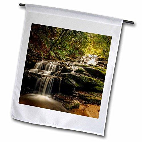 3dRose DanielaPhotography - Landscape, Nature - Leura Cascade - Waterfall in Blue Mountains, Australia - 18 x 27 inch Garden Flag (fl_280200_2)