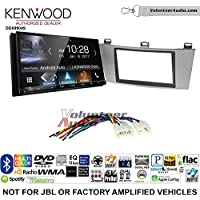 Volunteer Audio Kenwood DDX9904S Double Din Radio Install Kit with Apple CarPlay Android Auto Bluetooth Fits 2004-2008 Non Amplified Toyota Solara (Silver)