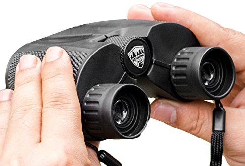 Compact Binoculars : Best 12X25 Mini Binocular With Zoom Lens for Bird Watching, Concert Theater, Sports Game Hunting Field Glasses Vision. Includes Harness Strap & Case For Adults, Men Women - Police Price Glasses