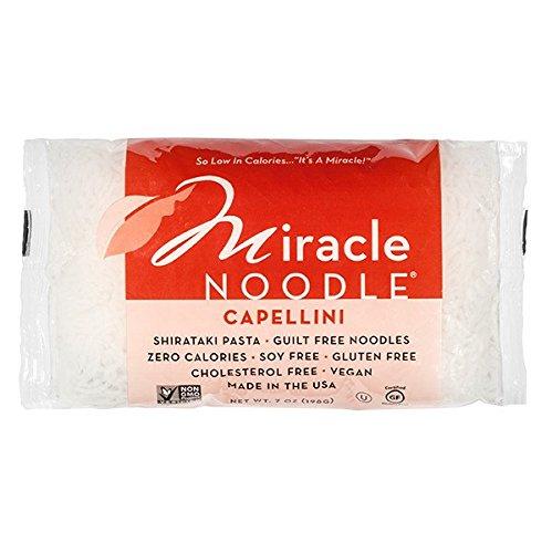- Miracle Noodle Capellini Shirataki Noodles, 7 oz (Pack of 6), Zero Carbs, Zero Calories, Gluten Free, Soy Free, Keto Friendly