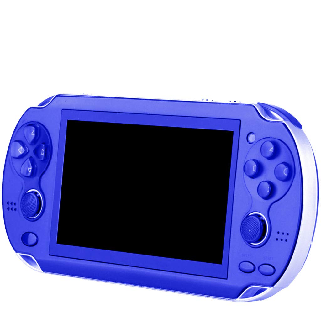 Chercherr X7 Handheld Game Console Kids Adults, Retro Game Console Portable Handheld Game Player Built-in 800 Game joystick, Home Travel Portable Gaming System Childrens Tiny Toys Digital (Blue) by Chercherr (Image #2)