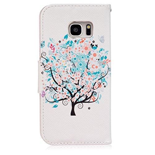 Trumpshop Smartphone Carcasa Funda Protección para Samsung Galaxy S7 (5,1 Pulgada) [Dont Touch My Phone (brujo)] PU Cuero Caja Protector Billetera con Cierre magnético Choque Absorción árbol de la vida