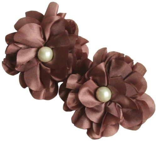 (Maya Road TK2544 Satin Scallop Edge Blooms for Crafting, Earth)