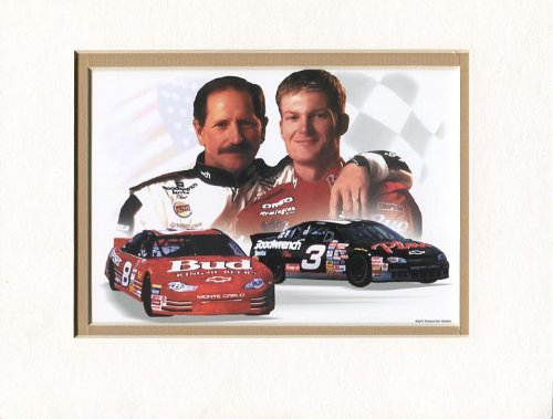 Dale Earnhardt & Dale Earnhardt, Sr. Double Matted, used for sale  Delivered anywhere in USA