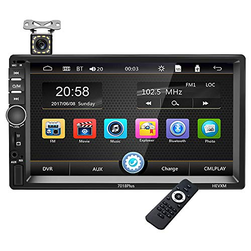 Touch Screen Car Stereo – Bluetooth Car Radio Double Din Multimedia Mp5 Player, 7 inch Digital Screen Car Audio Player…