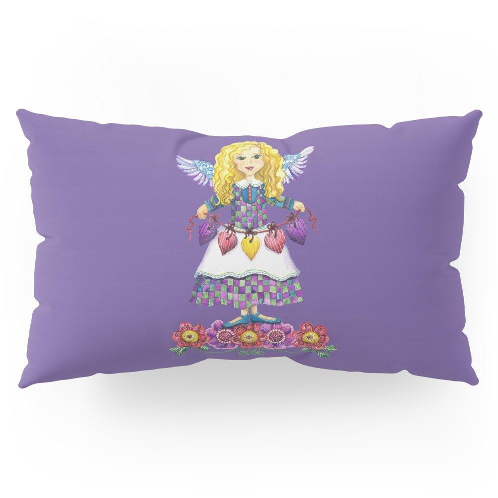 Society6 Angel Love (Purple) Pillow Sham King (20'' x 36'') Set of 2