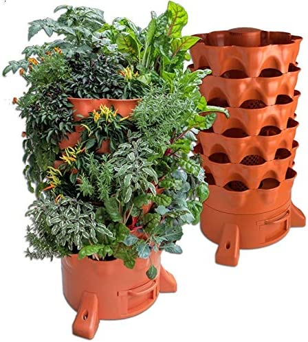 Garden Tower - Compostador vertical giratorio: Amazon.es: Jardín