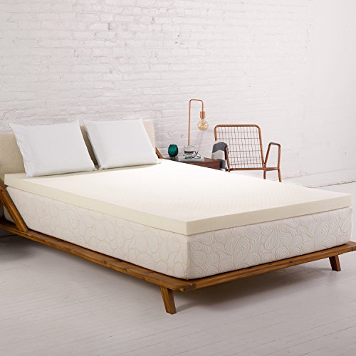 SleepJoy 3-Inch ViscO2 Memory Foam Mattress Topper with High-Airflow Ventilated Design, Made in the USA – King Size
