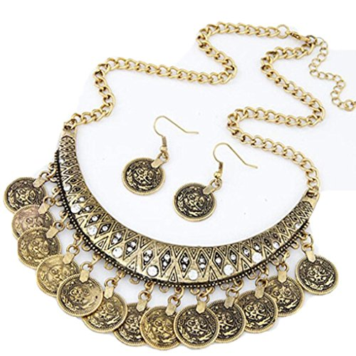 Used, Keliay Women Vintage Chokers Necklaces Ethnic Carved for sale  Delivered anywhere in USA