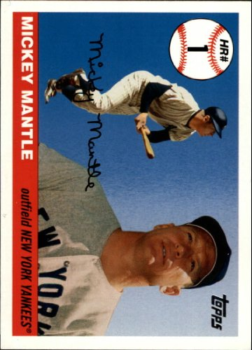 - 2006 Topps Mantle Home Run History Baseball Card #1 Mickey Mantle