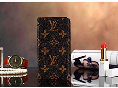 iPhone 7Plus 8Plus -US Fast Deliver Guarantee FBA- New Elegant Luxury PU Leather Wallet Style Flip Cover Case For Apple iPhone 7Plus 8Plus ( L Brown) (Coach Iphone Case)