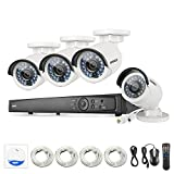 ANNKE 8CH 1080P POE Security Camera System with 4x 1080P Day/Night Vision Cameras No HDD Compatible with Hikvison IP Camera -- No1 Manufacturer of Video Surveillance Worldwide