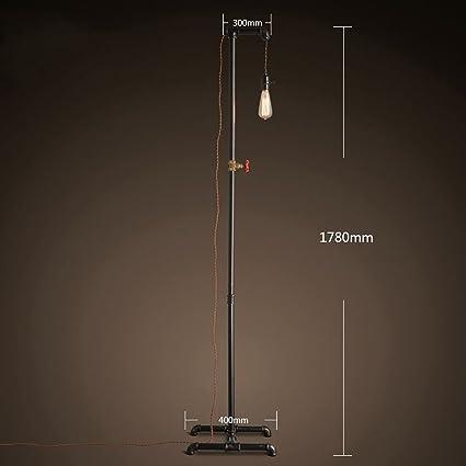 ZXLDD Lámpara de pie Vintage Loft lámpara de pie Retro ...