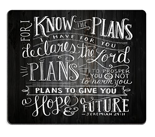 Smooffly Gaming Mouse Pad Custom,Vintage Bible Verse Scripture Quotes Psalms Sayings on Deadwood,Non-Slip Thick Rubber Large Mousepad