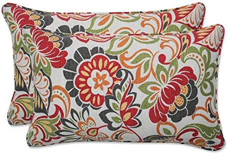 Pillow Perfect 450018 Outdoor/Indoor Zoe Citrus Lumbar Pillow