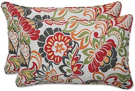 Pillow Perfect 450018 Outdoor/Indoor Zoe Citrus Lumbar Pillow