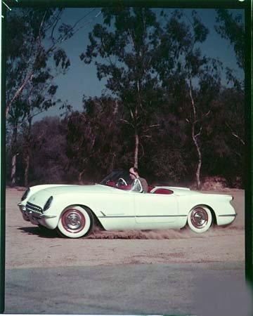 Color Photo 1953 Corvette Sports Car Image - Pictures Corvette 1953